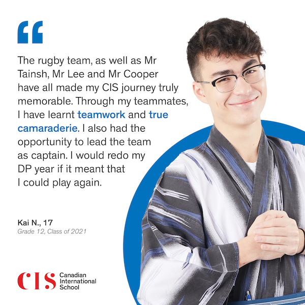 Canadian International School, CIS, IB DP, grade 12, alumni, 2021